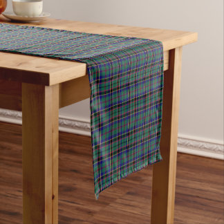Clan Stevenson Bright Green Scottish Tartan Short Table Runner