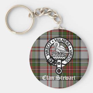 Clan Stewart Crest & Tartan Key Ring