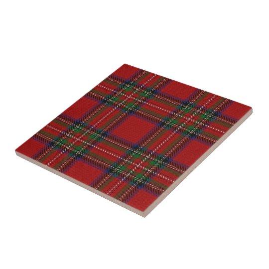 Clan Stewart Scottish Expressions Red Tartan Tile