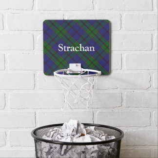 Clan Strachan Tartan Customize Name Mini Basketball Hoop