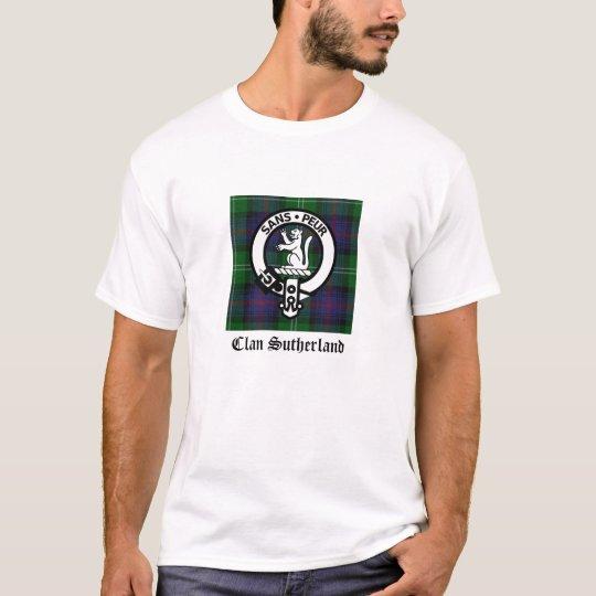 Clan Sutherland Crest & Tartan T-Shirt