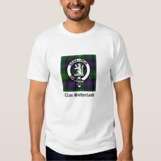 Clan Sutherland Crest & Tartan Tshirt