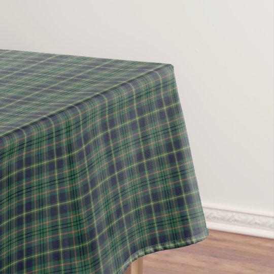 Clan Taylor Light Green and Navy Scottish Tartan