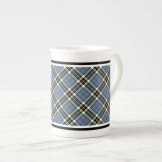 Clan Thompson Dress Tartan Light Blue Plaid Bone China Mug