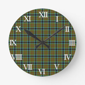 Clan Thomson Tartan Round Clock