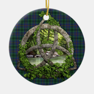 Clan Walker Tartan Celtic Trinity Christmas Ornament
