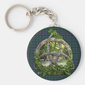 Clan Walker Tartan Celtic Trinity Key Ring