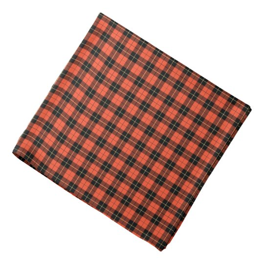 Clan Wallace Ancient Tartan Orange Plaid Bandana