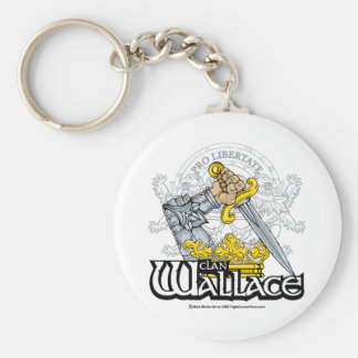 Clan Wallace Basic Round Button Key Ring
