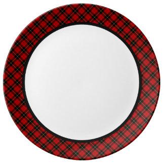 Clan Wallace Tartan Border Porcelain Plate