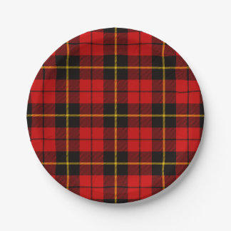 Clan Wallace Tartan Paper Plate