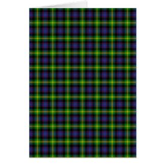 Clan Watson Tartan Card