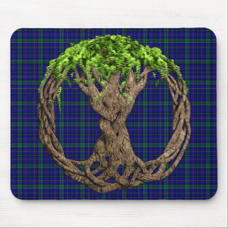 Clan Weir Tartan And Celtic Tree Of Life Mouse Pad