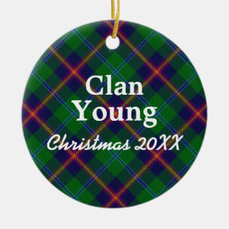Clan Young Scottish Tartan Christmas Ornament
