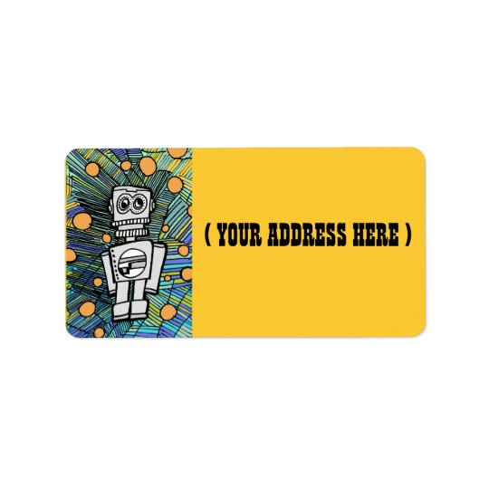 Clanky the Robot Address Labels