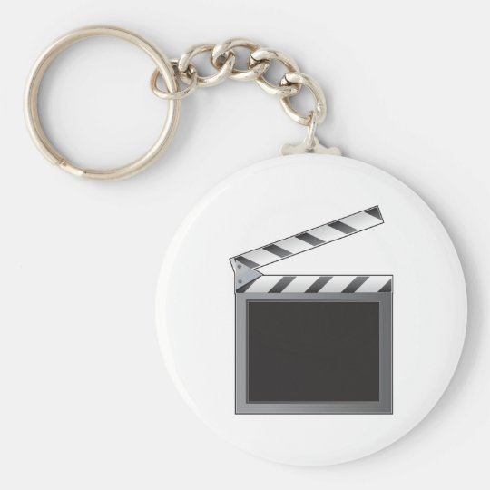 Clapboard Basic Round Button Key Ring