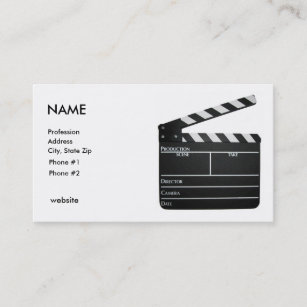 Filmmaker business cards zazzle uk clapboard filmmaker business card customised colourmoves