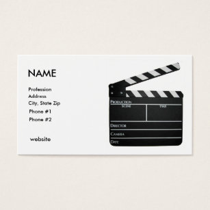 Filmmaker business cards business card printing zazzle uk clapboard filmmaker business card customized colourmoves Choice Image