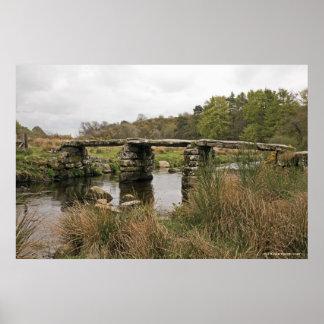 Clapper Bridge In Dartmoor National Park Poster