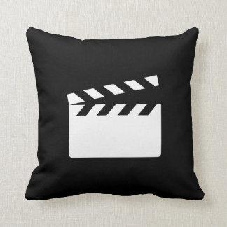Clapper Pictogram Throw Pillow