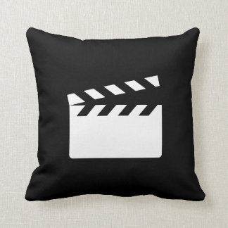 Clapper Pictogram Throw Pillow Cushions