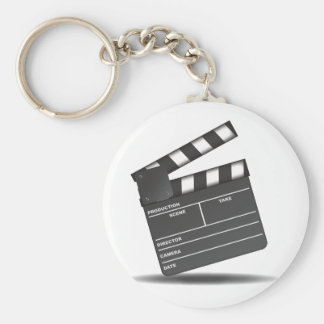 Clapperboard Basic Round Button Key Ring