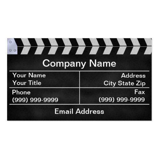 clapperboard cinema business cards