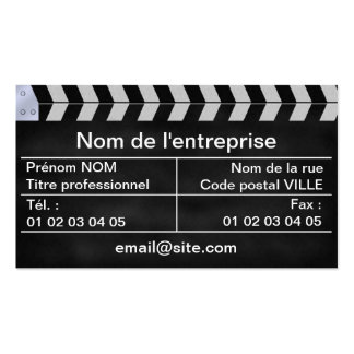 clapperboard cinema business cards