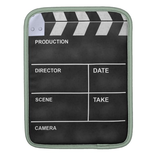 clapperboard cinema iPad sleeve