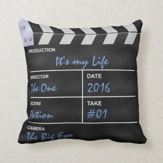 """Clapperboard cinema """"It's my Life"""" Cushions"""