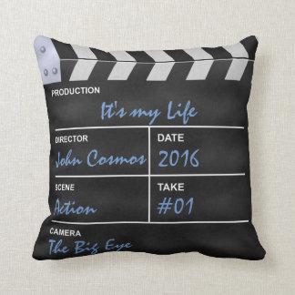 "Clapperboard cinema ""It's my Life"" Throw Cushion"