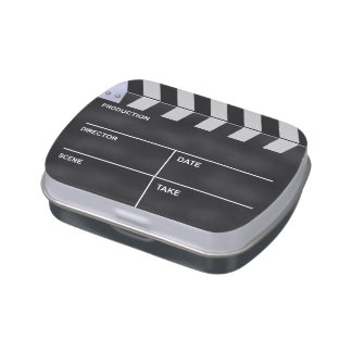 Clapperboard cinema jelly belly tin