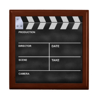 Clapperboard cinema large square gift box