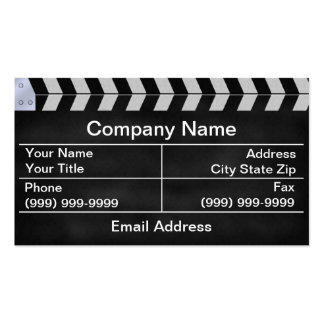 clapperboard cinema pack of standard business cards