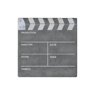 Clapperboard cinema stone magnet