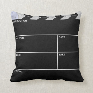 clapperboard cinema throw pillow
