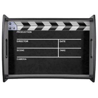 clapperboard cinema serving tray