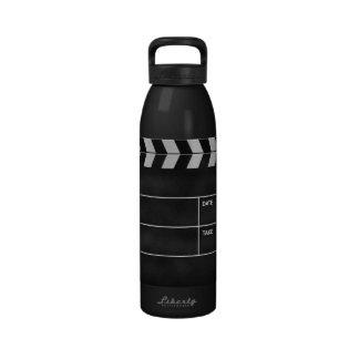 clapperboard cinema water bottle
