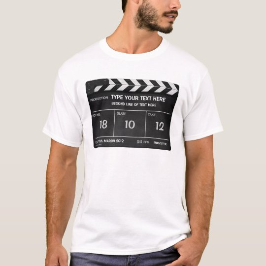 CLAPPERBOARD CLASSIC custom T-shirt with your text