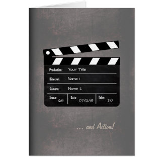 Clapperboard with your Text! Card