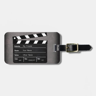 Clapperboard with Your Text! Luggage Tag