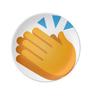Clapping Emoji Porcelain Plates