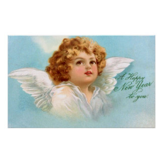 Clapsaddle Charming Christmas Angel Poster