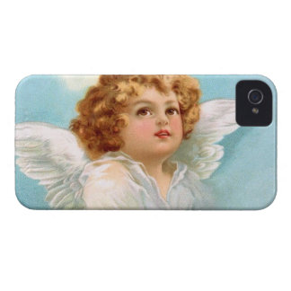 Clapsaddle: Charming New Year Angel iPhone 4 Case-Mate Case