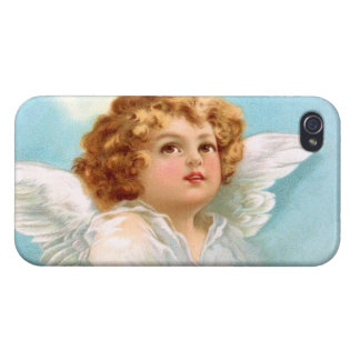 Clapsaddle Charming New Year Angel Cases For iPhone 4