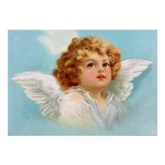Clapsaddle Charming New Year Angel Poster