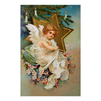 Clapsaddle Christmas Angel Poster
