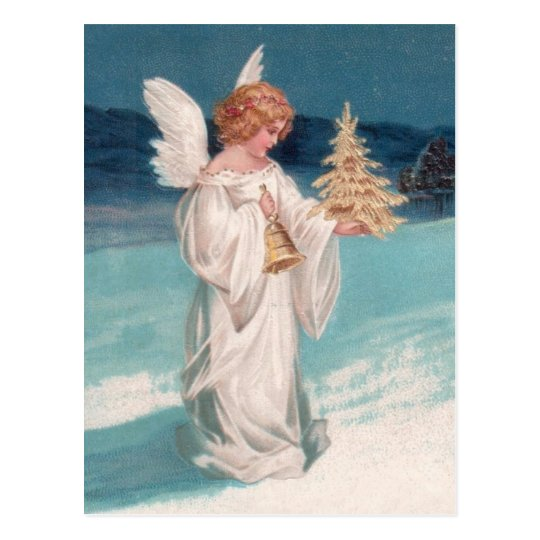 Clapsaddle: Christmas Angel with Bell Postcard