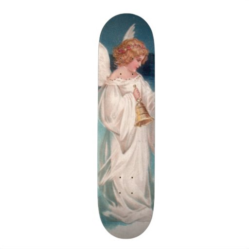 Clapsaddle: Christmas Angel with Bell Skate Boards