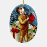 Clapsaddle: Christmas Shopping Christmas Tree Ornament